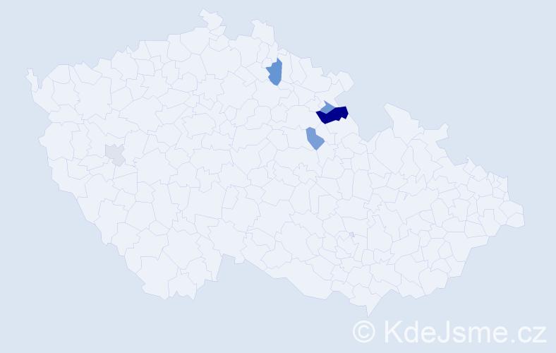 Příjmení: 'Buryancová', počet výskytů 9 v celé ČR