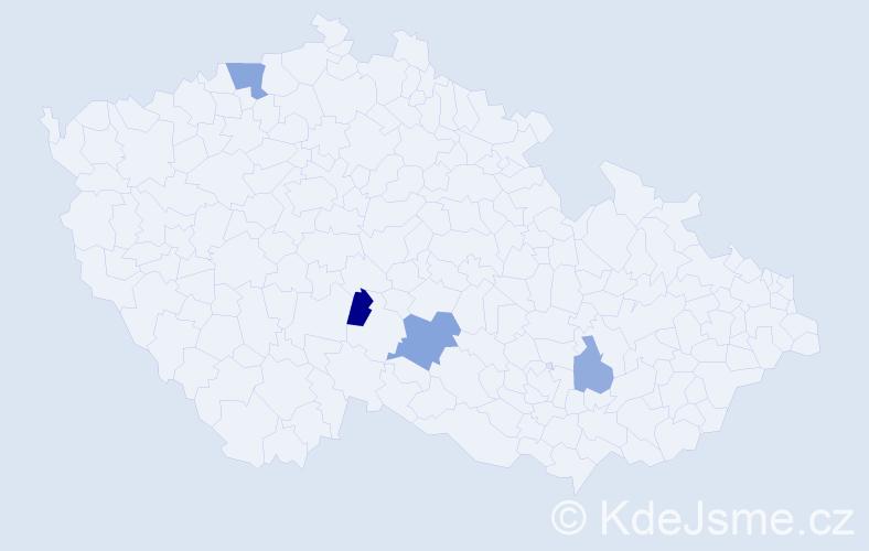 Příjmení: 'Čelonková', počet výskytů 6 v celé ČR