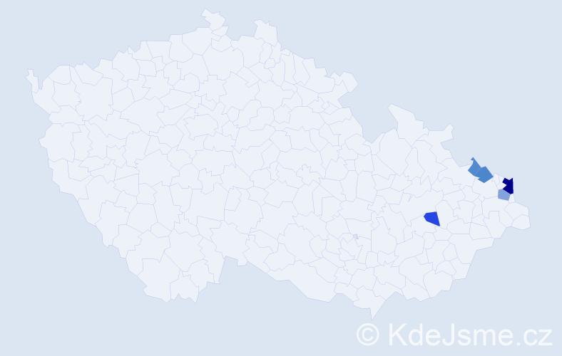 Příjmení: 'Kajstura', počet výskytů 13 v celé ČR