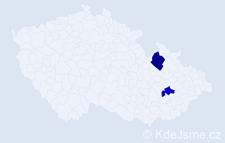 Příjmení: 'Majstryzsin', počet výskytů 2 v celé ČR