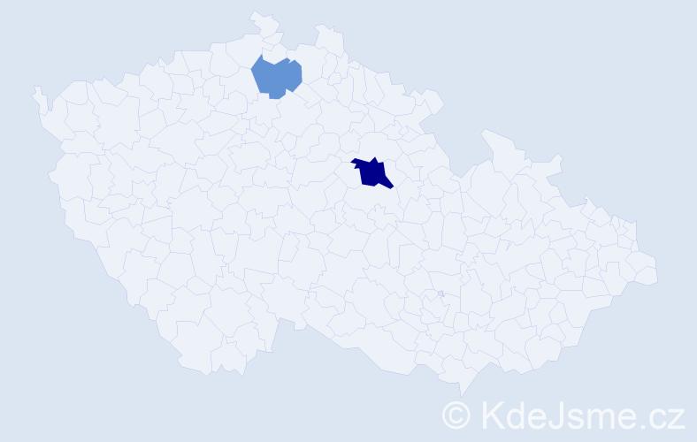 Příjmení: 'Gobernac', počet výskytů 9 v celé ČR