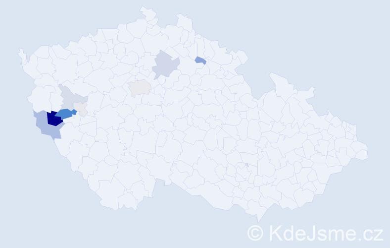 Příjmení: 'Gustová', počet výskytů 20 v celé ČR
