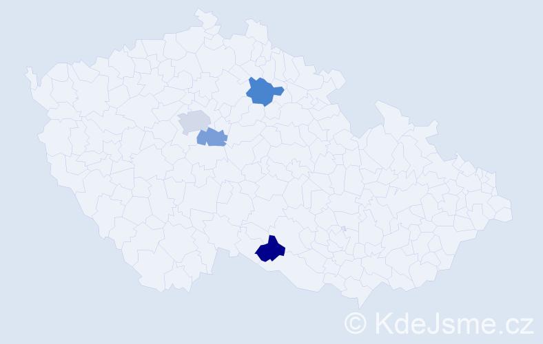 Příjmení: 'Kanavalová', počet výskytů 13 v celé ČR