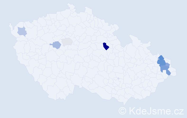 Příjmení: 'Burkovič', počet výskytů 22 v celé ČR