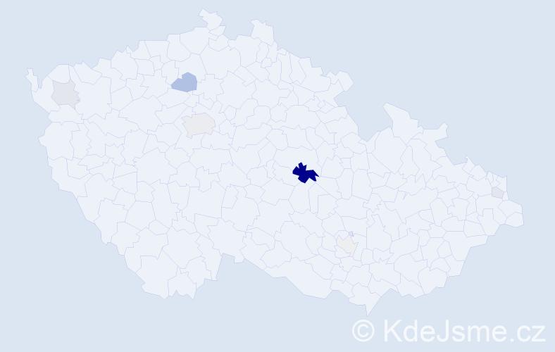 Příjmení: 'Englc', počet výskytů 19 v celé ČR