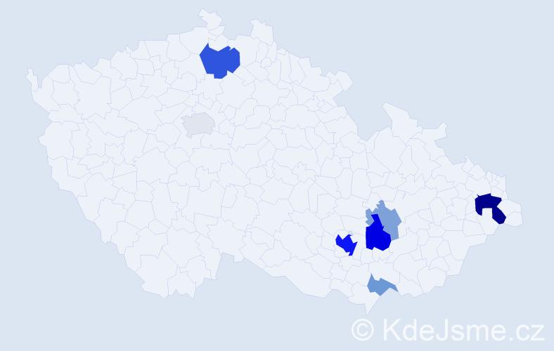 Příjmení: 'Eich', počet výskytů 19 v celé ČR