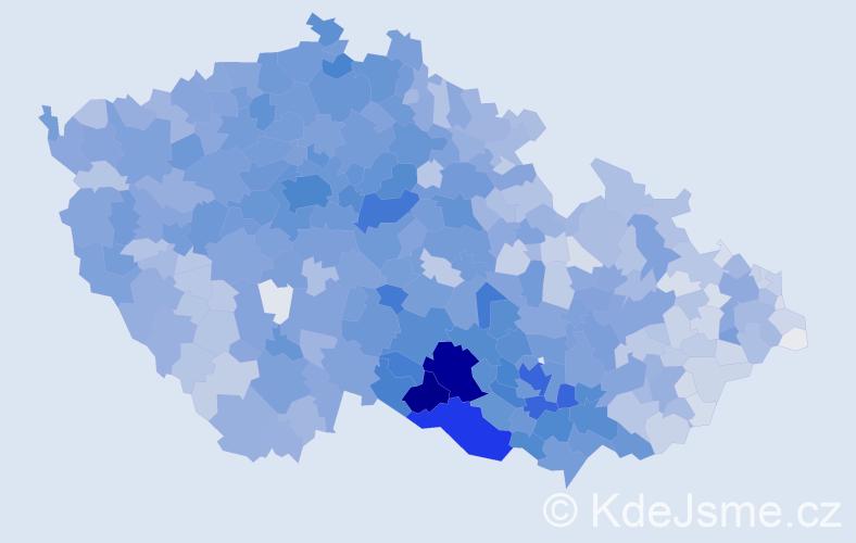 Příjmení: 'Svoboda', počet výskytů 25219 v celé ČR
