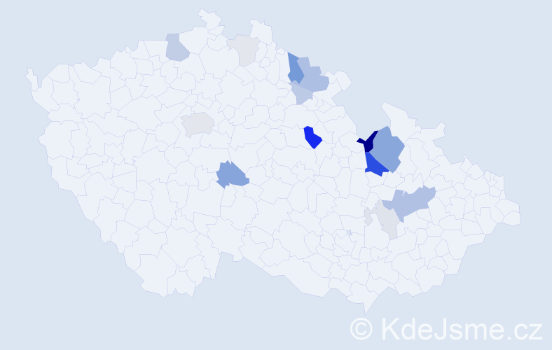 Příjmení: 'Grúz', počet výskytů 44 v celé ČR