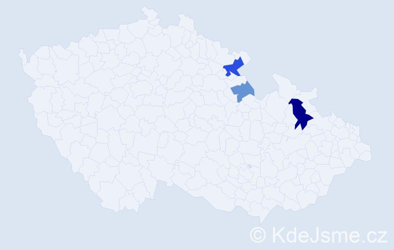 Příjmení: 'Lanka', počet výskytů 7 v celé ČR