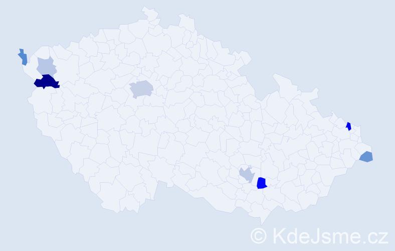 Příjmení: 'Friedmanová', počet výskytů 21 v celé ČR