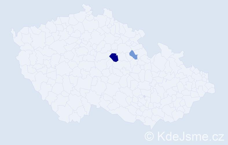 Příjmení: 'Damaschková', počet výskytů 4 v celé ČR