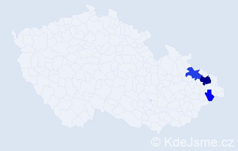 Příjmení: 'Celárek', počet výskytů 15 v celé ČR