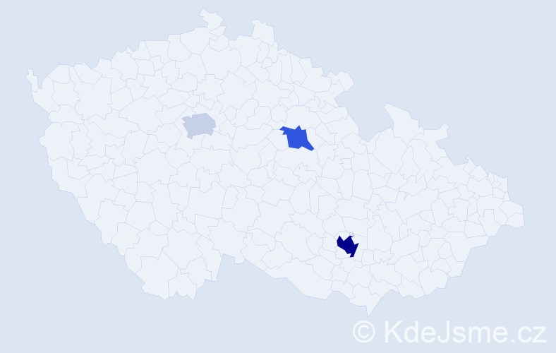 Příjmení: 'Jurisa', počet výskytů 6 v celé ČR