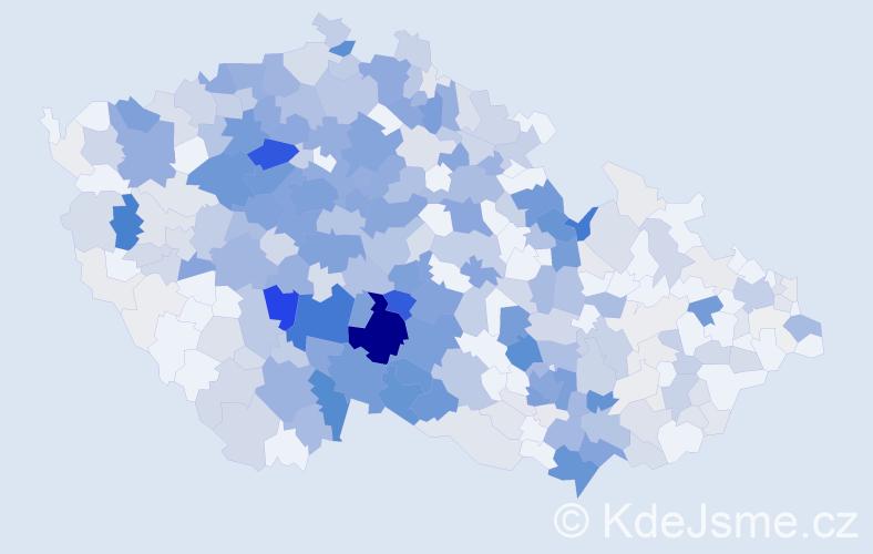 Příjmení: 'Kos', počet výskytů 1886 v celé ČR