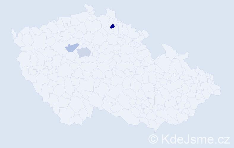 Příjmení: 'Leršová', počet výskytů 6 v celé ČR