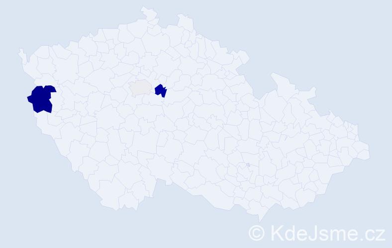 Příjmení: 'Čmiko', počet výskytů 7 v celé ČR