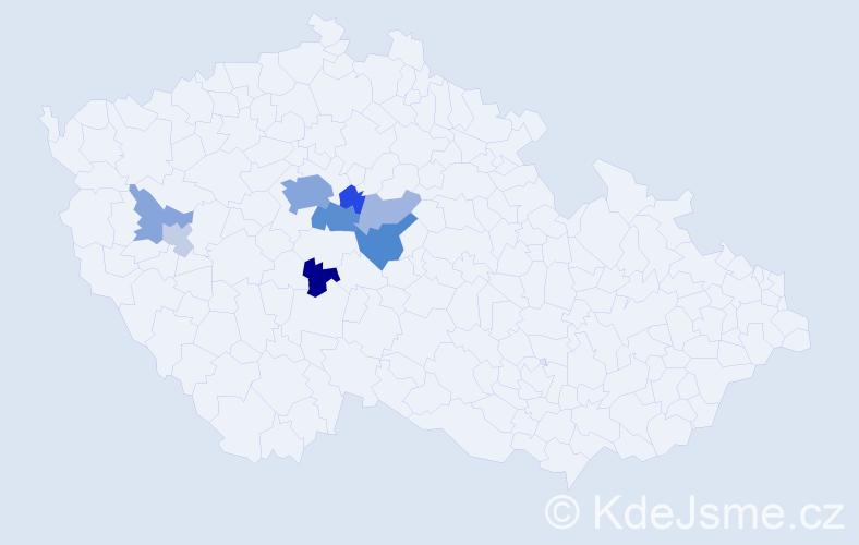 Příjmení: 'Čadinová', počet výskytů 22 v celé ČR