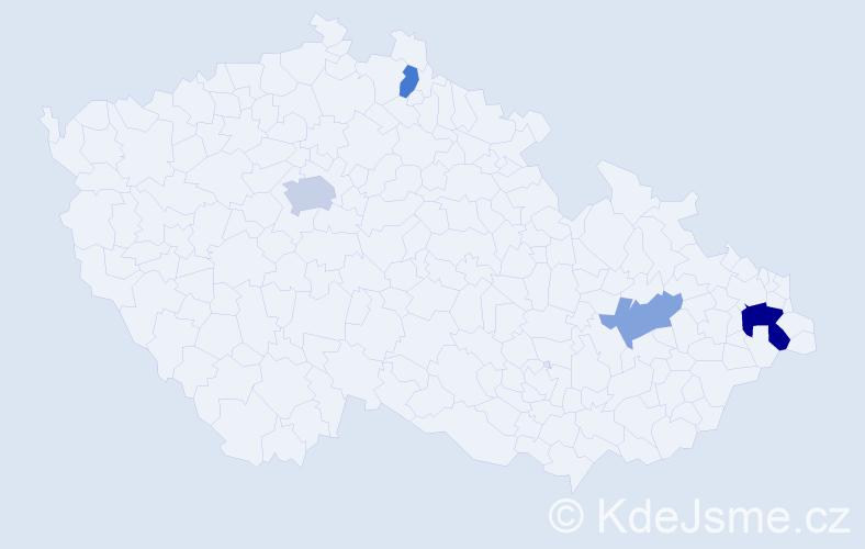 Příjmení: 'Avetisjan', počet výskytů 7 v celé ČR