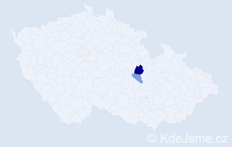 Příjmení: 'Janypka', počet výskytů 7 v celé ČR