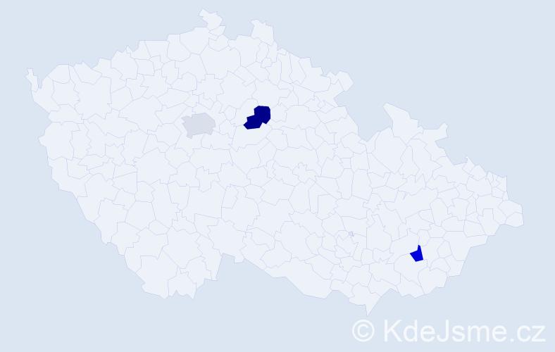 Příjmení: 'Dropka', počet výskytů 3 v celé ČR