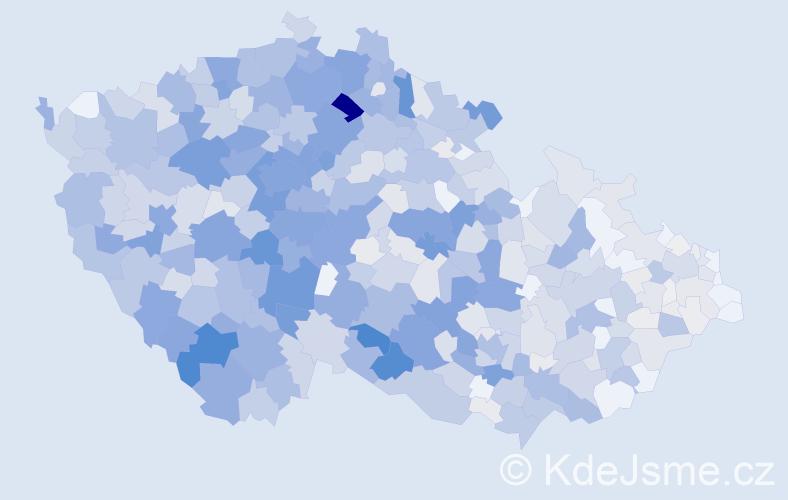 Příjmení: 'Janoušek', počet výskytů 3759 v celé ČR