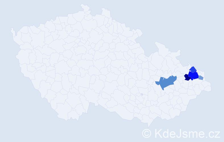 Příjmení: 'Chytrošová', počet výskytů 11 v celé ČR