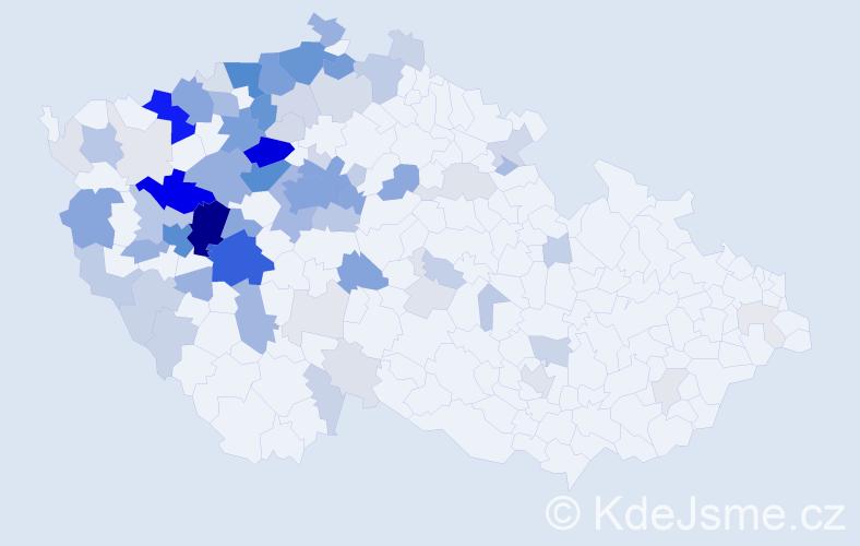Příjmení: 'Bernášková', počet výskytů 379 v celé ČR