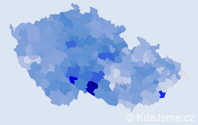Příjmení: 'Novák', počet výskytů 34249 v celé ČR