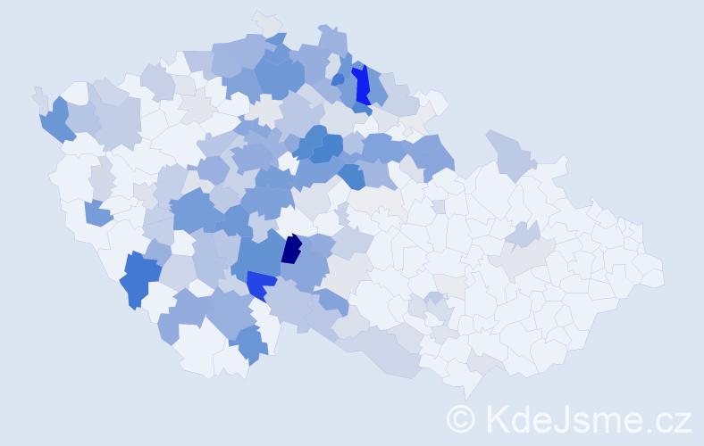 Příjmení: 'Jech', počet výskytů 760 v celé ČR