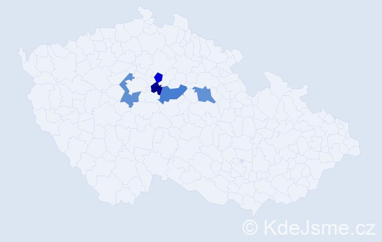 Příjmení: 'Körblová', počet výskytů 8 v celé ČR