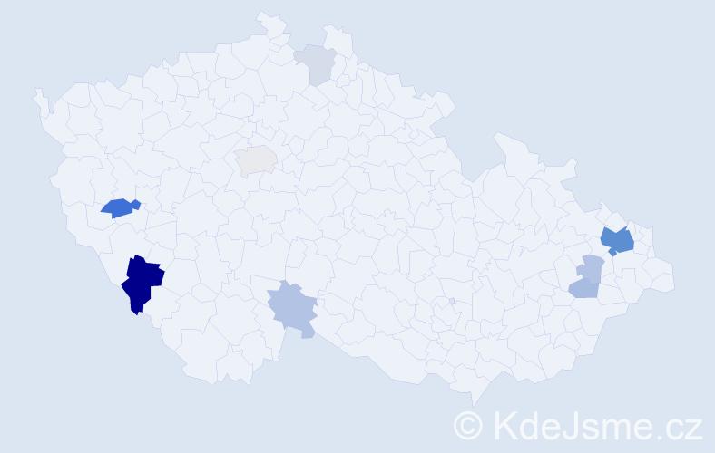 Příjmení: 'Kaliský', počet výskytů 26 v celé ČR