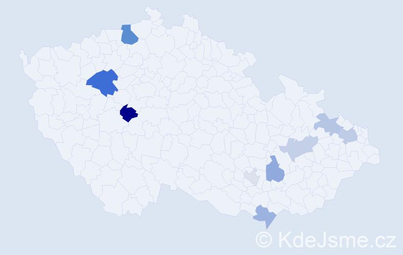 Příjmení: 'Flores', počet výskytů 16 v celé ČR