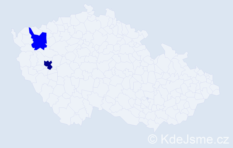 Příjmení: 'Batarčuková', počet výskytů 3 v celé ČR