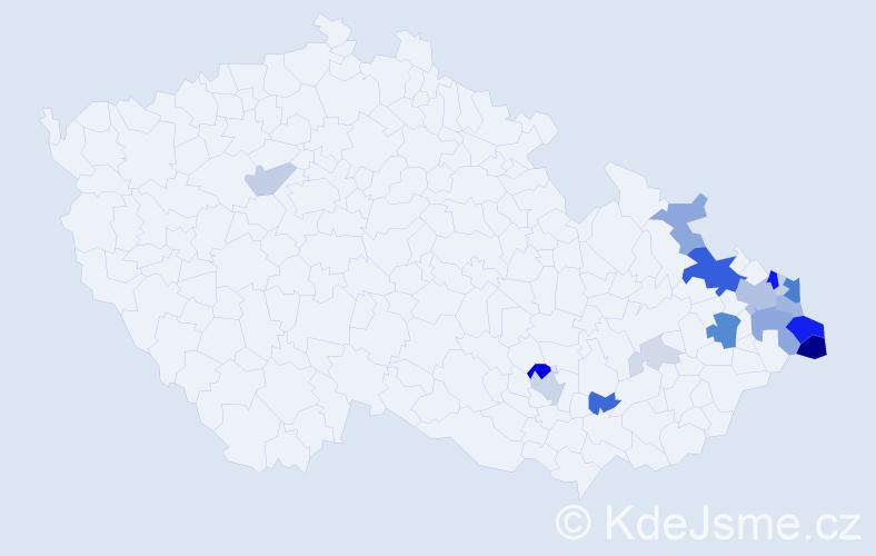 Příjmení: 'Kurowski', počet výskytů 73 v celé ČR