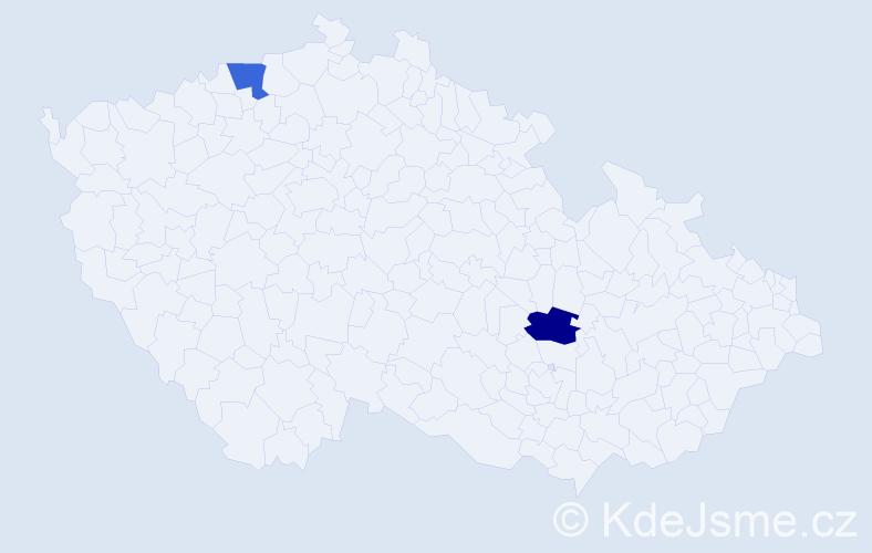 Příjmení: 'Figluš', počet výskytů 4 v celé ČR