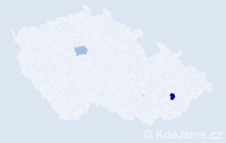 Příjmení: 'Alsterová', počet výskytů 11 v celé ČR