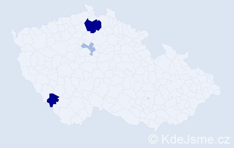 Příjmení: 'Ilcová', počet výskytů 17 v celé ČR