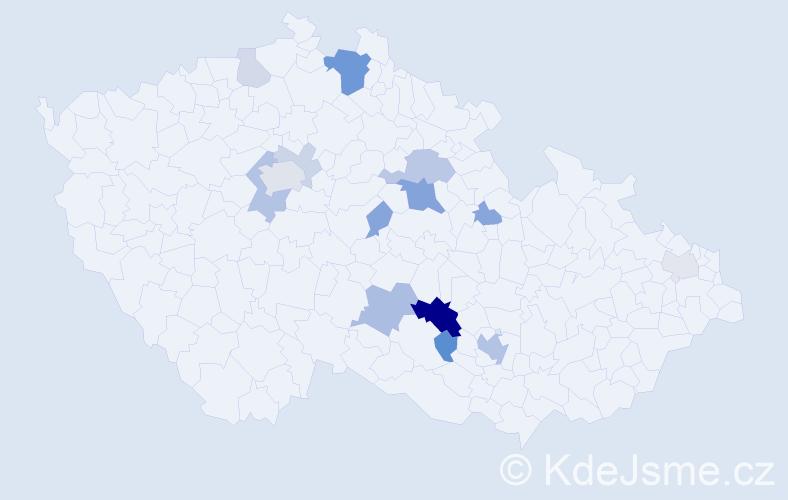 Příjmení: 'Fikerová', počet výskytů 37 v celé ČR