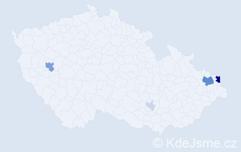 Příjmení: 'Gluč', počet výskytů 12 v celé ČR