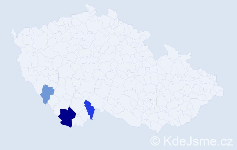 Příjmení: 'Anichober', počet výskytů 8 v celé ČR