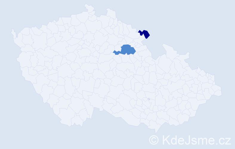 Příjmení: 'Hajpišl', počet výskytů 4 v celé ČR