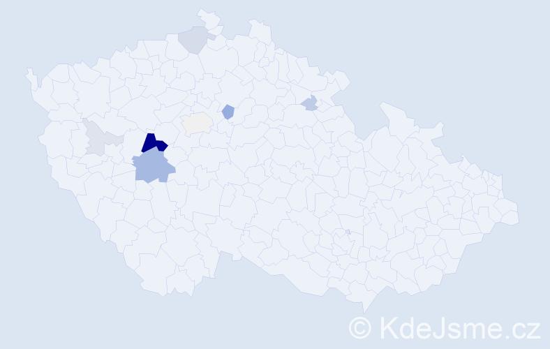 Příjmení: 'Fajrajzl', počet výskytů 26 v celé ČR