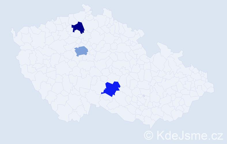Příjmení: 'Kalašnikov', počet výskytů 5 v celé ČR