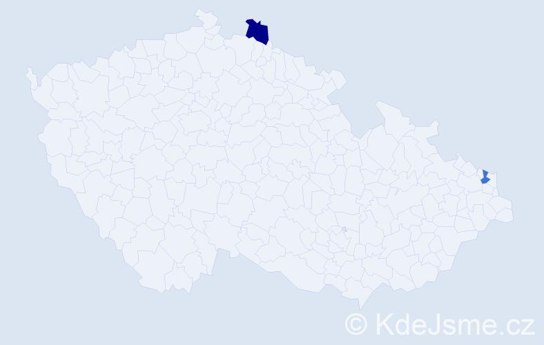 Příjmení: 'Karapin', počet výskytů 2 v celé ČR