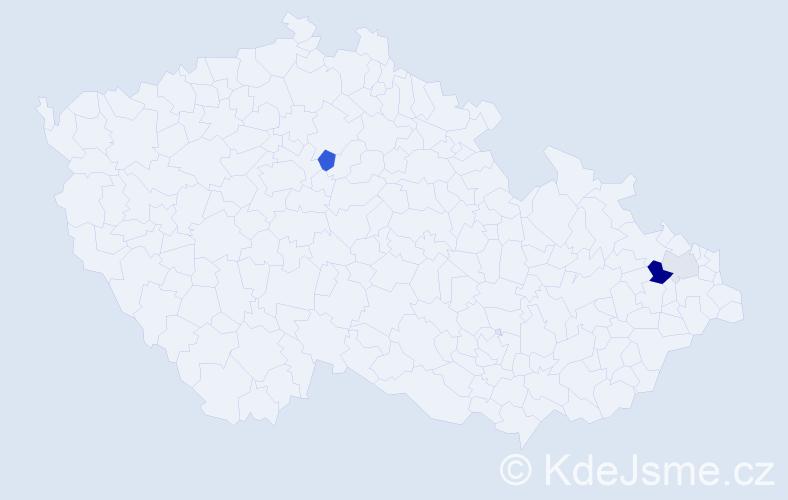 Příjmení: 'Laniak', počet výskytů 7 v celé ČR
