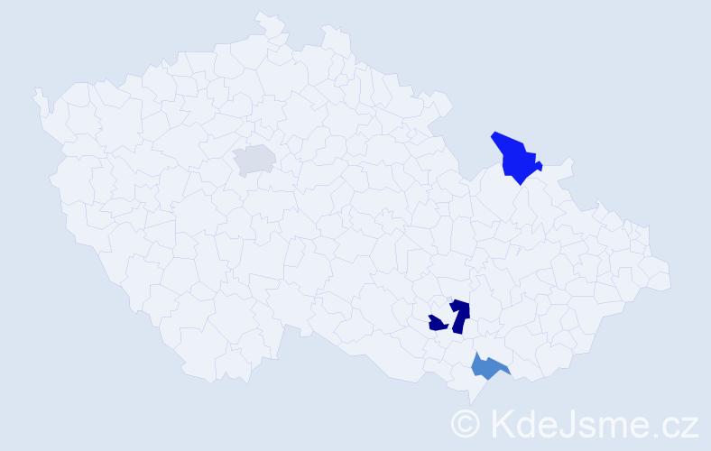 Příjmení: 'Engelhardtová', počet výskytů 5 v celé ČR