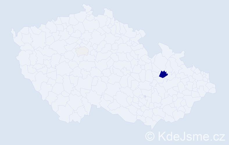 Příjmení: 'Gratzer', počet výskytů 6 v celé ČR