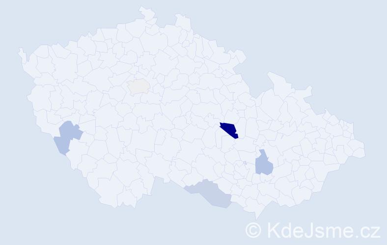 Příjmení: 'Janok', počet výskytů 7 v celé ČR