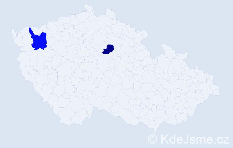 Příjmení: 'Branovická', počet výskytů 3 v celé ČR