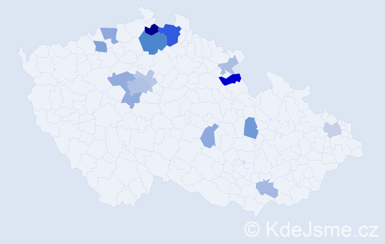 Příjmení: 'Endtová', počet výskytů 41 v celé ČR